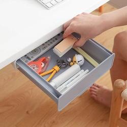В соответствии с ящик скрытый столик под паста Пластик Кухня хранения Организатор Настольный держатель ручка для заметок коробка для хране...