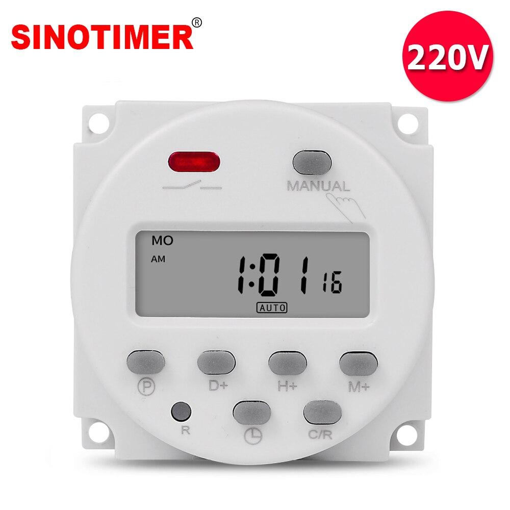 Источник питания 220 в цифровой программируемый таймер на 7 дней электронное освещение ежедневное реле времени программист CN101A
