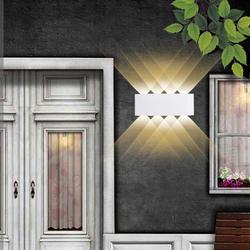 Dom fasada ściana światło 2W 4W 6W 8W LED wodoodporne zewnętrzne kinkiety ścienne ogród na werandzie styl skandynawski kryty dekoracyjna lampa ścienna