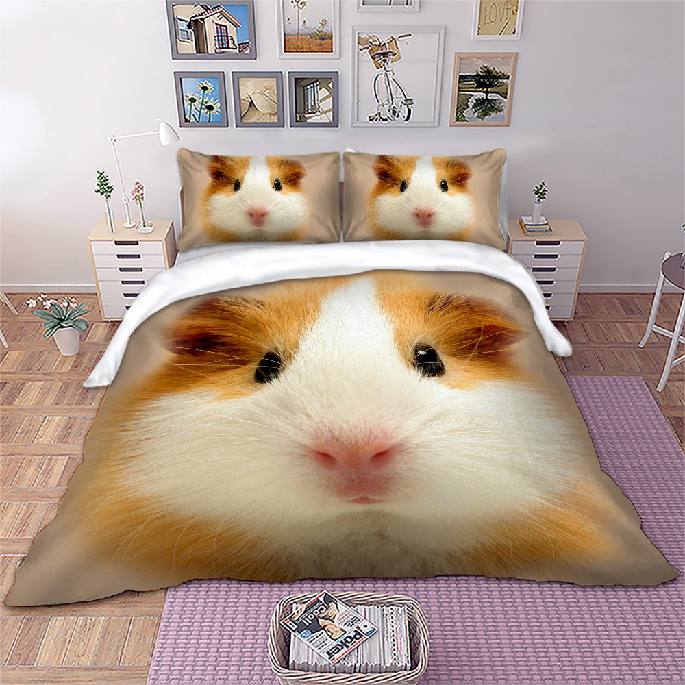 3D Animal Bedding Set Cute Cavia porcellus Duvet Cover Twin Full Queen King Size bedlinen Home Textiles