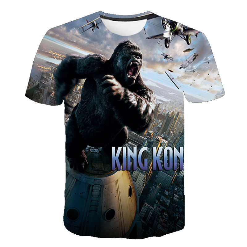 2020 Fashion King Kong 3D Printed T Shirt Men Women Summer Harajuku Short Sleeve T-shirt Casual Children Boy Girl Tee Kids Tops