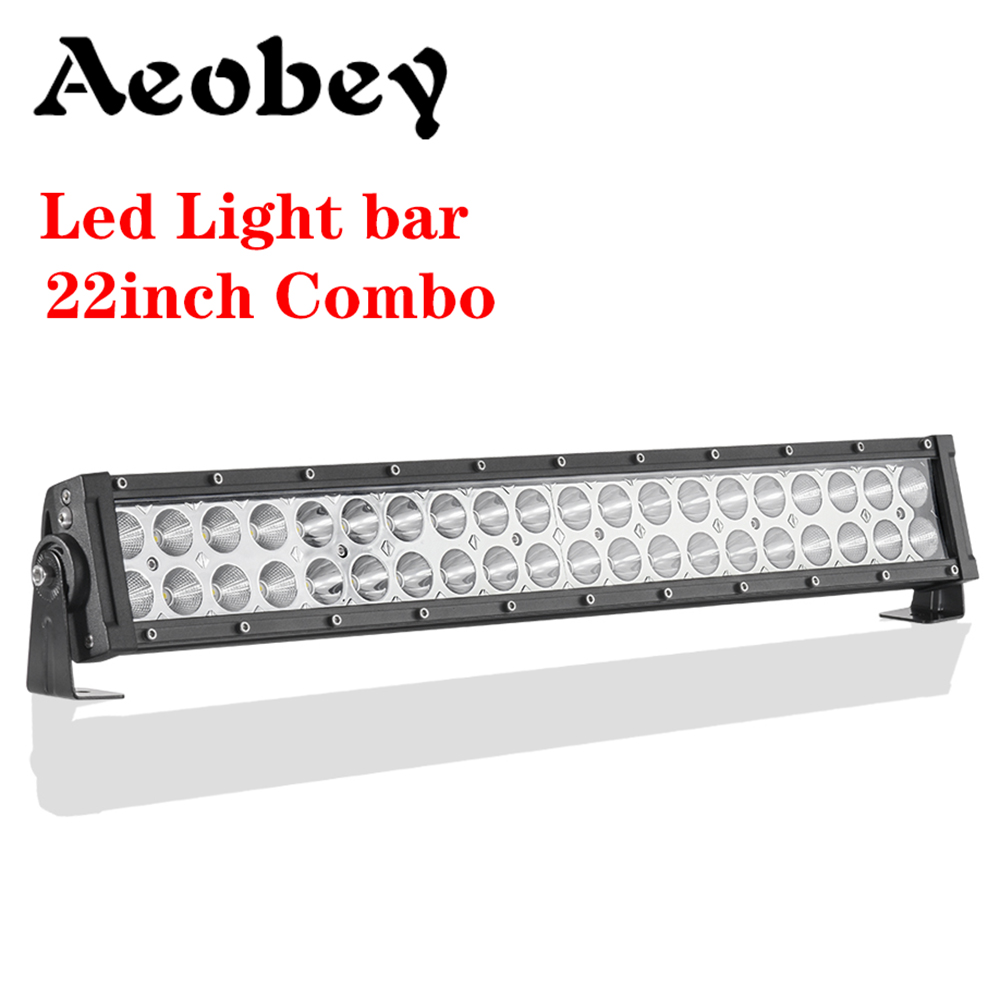 Aeobey 22 Inch Led Light Bar 120W Combo Dual Row Driving Light Offroad Led Bar Work Light Car Tractor Truck 4x4 SUV ATV 12V 24V