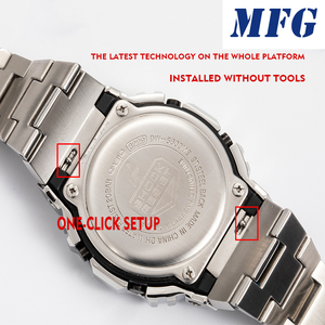 Image 2 - MFGนาฬิกาDW5600 WatchBandสายคล้องโลหะสร้อยข้อมือสแตนเลสสตีลเข็มขัดอุปกรณ์เสริม