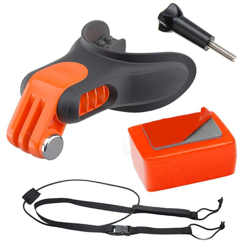 Mouth Mount Bite Accessories Set Kit For Surfing Diving For Hero Camera