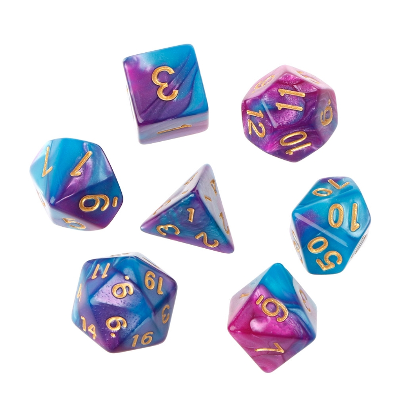 7pcs/Set Acrylic Polyhedral Dice For TRPG Board Game Dungeons And Dragons D4-D20 High Quality and Brand New
