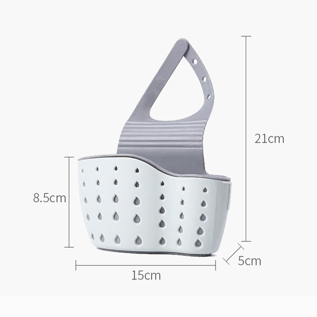 Sink Shelf Soap Sponge Drain Rack Silicone Storage Basket Bag Faucet Holder Adjustable Bathroom Holder Sink Kitchen Accessorie 6