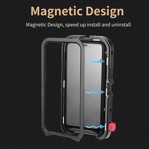 Image 5 - Ulanzi Vlog metalowa obudowa do iPhone 11 nagrywanie wideo nagrywanie Vlogging Case z gwintem 17MM 1/4 śruba