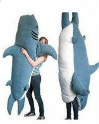 Гигантская большая акула спальный мешок погремушка диван кровать плюшевый мягкий подарок тянуть