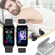 Smart Bracelet Wireless Bluetooth 2-in-1 Bluetooth 5.0 TWS Earbuds Fitness Health Tracker Smart Bracelet for iOS 8.0/Android 4.4