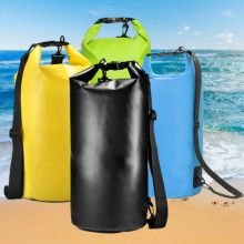 Motorcycle Bag Outdoor PVC Dry Sack Waterproof 10L 20L shoulder For Diving Swimming Hiking Driving Travel Kits