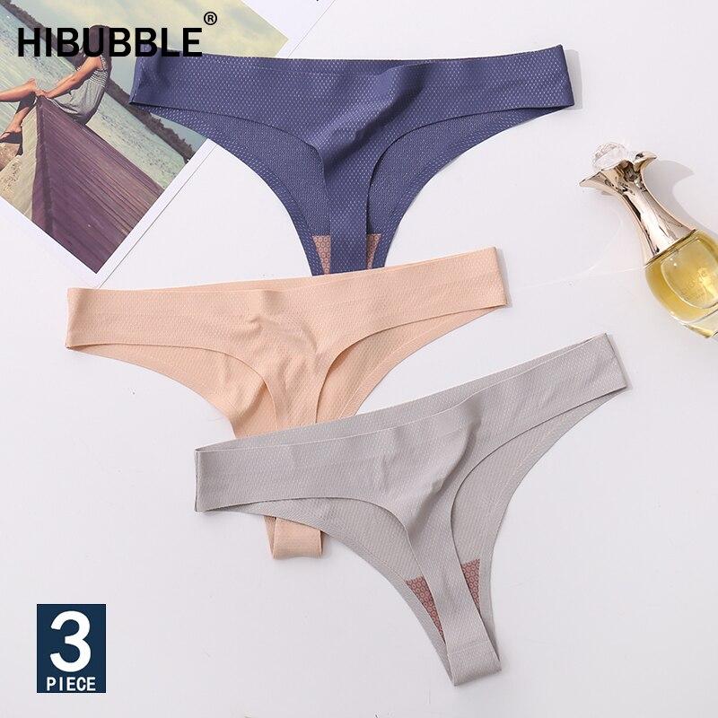 3Pcs Ice Silk Seamless String Sports T back G string Mesh  Breathable Thong Sexy Panties Antibacterial Underwear Women Briefs  Newwomens panties