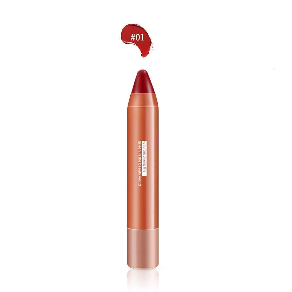 Glod & Hitam Matte Lipstik Pensil Bibir Make Up Kiss Proof Batom Pena Makeup Tahan Air Matt Tongkat Bibir Kosmetik Lip Care balm Pena TSLM1