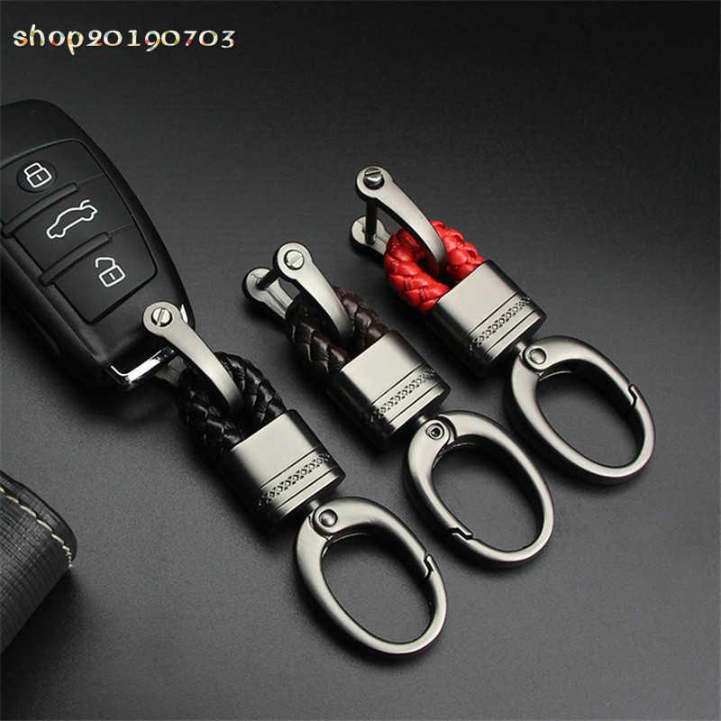 2019 Fishon รถ Keychain Horseshoe Buckle พวงกุญแจรถ Key ผู้ถืออุปกรณ์เสริมสำหรับ Audi BMW Benz Mazda