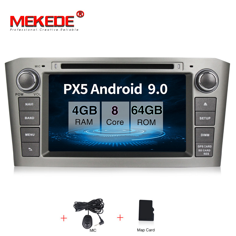 MEKEDE PX5 4G RAM <font><b>Android</b></font> 9.0 Car DVD Stereo Auto Radio Multimedia Headunit For <font><b>Toyota</b></font> Avensis/<font><b>T25</b></font> 2003-2008 WIFI RDS GPS image