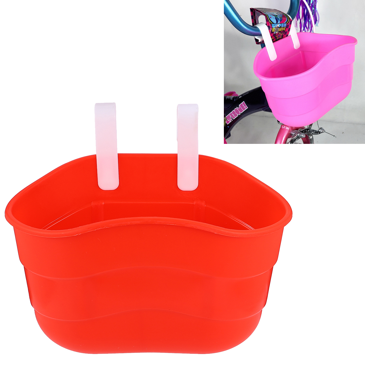 children/'s bike basket plastic bicycle bag kids scooter handle bar baskeNWUS