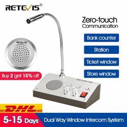 Retevis RT-9908 Doppio di Senso Sistema di Finestre Citofono Sportello Bancario Interphone Zero-touch Per Il Business Negozio Stazione della Banca Biglietto Finestra
