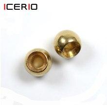 Icerio 100 pçs contas de bronze cabeça para nymph streamer bugs voar pesca amarrando materiais 2.4mm 2.8mm 3.3mm 3.8mm