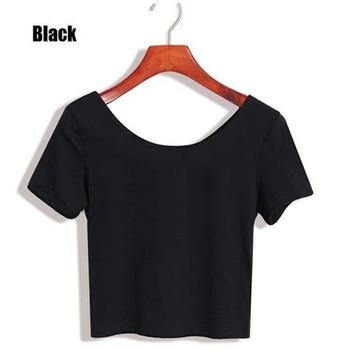 2020 New Women T-shirts Casual Sexy Tops Tee Summer Female T shirt Short Sleeve T shirt For Women Clothing dropshipping - Black, L