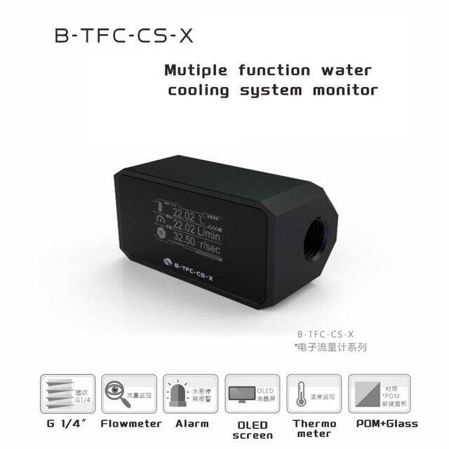 Bykski Thermometer Water Cooling System Monitor Flowmeter Leaking Pump Speed Alarm RPM Temperature Sensor PC Cooler B-TFC-CS-X 4
