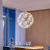 현대 LED 크리스탈 펜 던 트 램프 민들레 샹들리에 조명기구 다이닝 룸 침실 Lustres 드 크리스털 AC110V ~ 240V