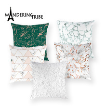 Fundas de cojín de rayas Retro, fundas de cojín con diseño geométrico decorativo Vintage, funda de fundas de almohadas de lujo para almohadones para el hogar