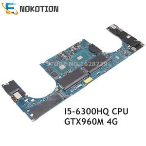 NOKOTION CPU Laptop Motherboard I5-6300HQ DELL GTX960M XPS for 15/9550 4G CN-01VG5R AAM00