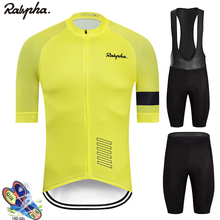 2021 New Raphaful Cycling Clothing Jersey Sets pro Road Bike Short Clothes Summer Bicycle tops Triathlon Skinsuit Cycle Shirt
