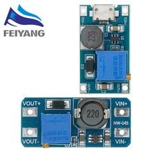10 pces mt3608 DC-DC passo acima do conversor impulsionador módulo de fonte de alimentação impulso placa step-up saída máxima 28v 2a para arduino