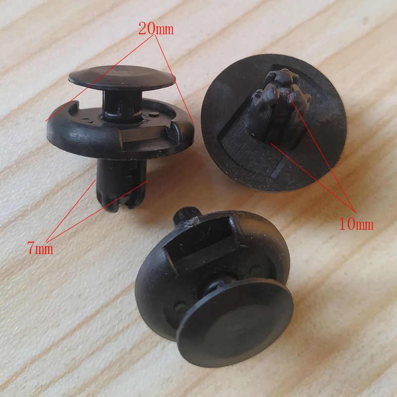 20 adet 7mm delik tampon çamurluk tutucu klipler siyah naylon perçinler raptiye Suzuki Grand Vitara için SX4 hızlı X-90 XL-7 09409-07332