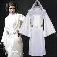 2019 Star Wars Episodes IV VI Costumes Alderaan princess Leia Organa Solo Cosplay Leia Organa Solo White dress Halloween costume
