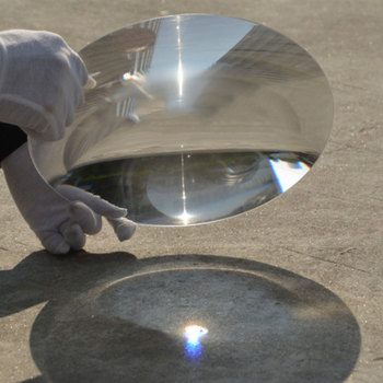 350mm Large Optical PMMA Fresnel Lens Focal Length 185mm 900mm Solar Concentrator Plastic Magnifying Glass 1PC