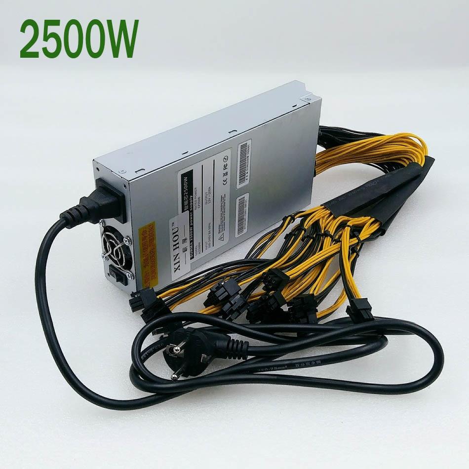Nouveau ZEC BTC LTC DASH Miner PSU 2500W alimentation pour Antminer S9 S9j S9k L3 + Z9 Z11 A9 T1 Ebit E9i E9.3 E10.1 M3 Z1PRO ETH PSU