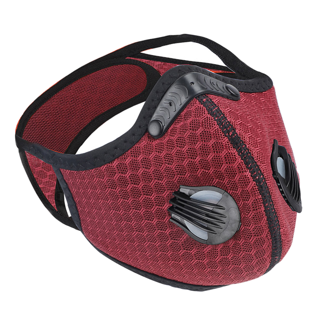 Hc23df7862c3641269e8a04db3cb4837bv Neoprene Cycling Face Mask Cycling Half Face Mask Biking Adjustable Facemask Activated Carbon Face Cover