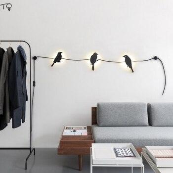 Vogel Lamp Creatieve Individuele Led Wall Licht Metalen Eenvoudige Nachtkastje Slaapkamer Badkamer Woonkamer Raam Iron Decor Wandkandelaars