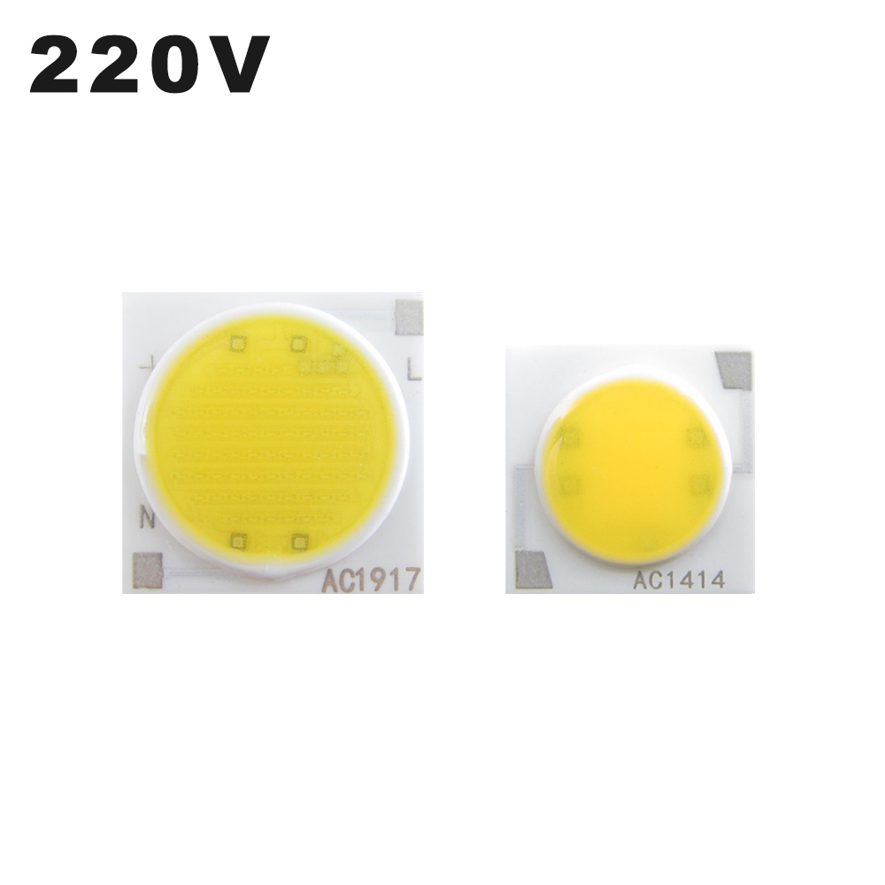 2pcs/ Lot 3W 5W 7W 9W 12W 15W 20W 30W Square COB LED Chips AC220V Surface Light Source LED Beads For Outdoor Spotlight Downlight