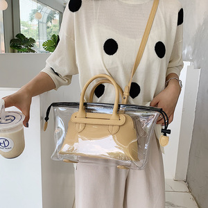 Image 1 - JIULIN חדש ג לי שקוף bag2019 חדש קיץ טרי יד כף כנף תיק קוריאני חד כתף אלכסוני תיק גדול תיק