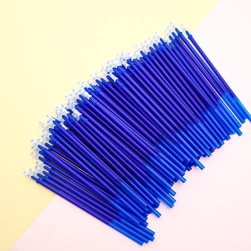 100Pcs/pack Korean Erasable Gel Pen Ink Refills Black Blue Flash Cartridge School Office  Supply Accessory Stationary Stationery