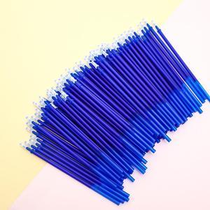 50Pcs/pack Korean Erasable Gel Pen Ink Refills Black Blue Flash Cartridge School Office Supply Accessory Stationary Stationery