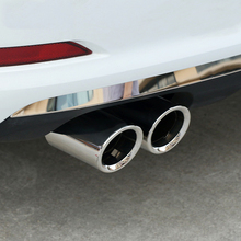 цена на Steel Rear Tail Pipe Trim Fit For BMW X3 F25 28i xDrive 2011 2012 2013 2014 Part Muffler Exhaust Throat Tip Cover Accessories