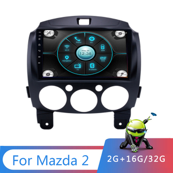 9 inch Android 9.1 2 Din Car Multimedia for Mazda 2 2007 2008 2009 2010 2011 2012 2013 2014 2din Autoradio GPS Stereo Radio Wifi image
