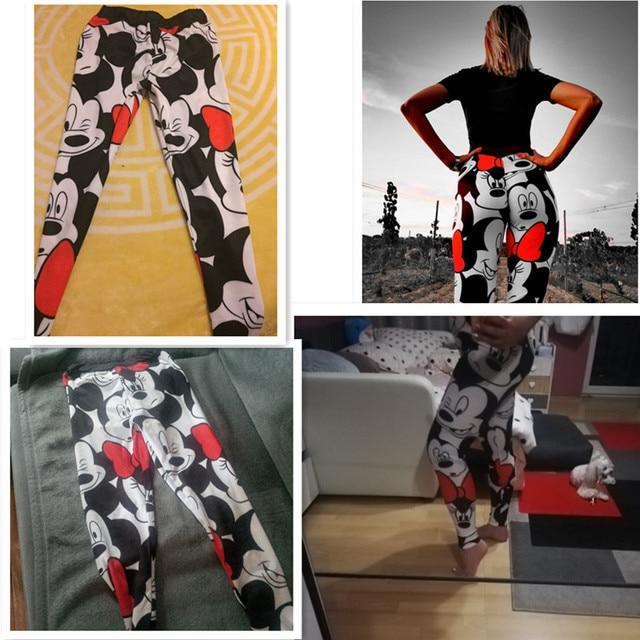 3D Mickey Women Leggings Stretchy Fitness Women Sweatpants Mickey Gym Leggings Female Mickey Pants Women Leggings 8