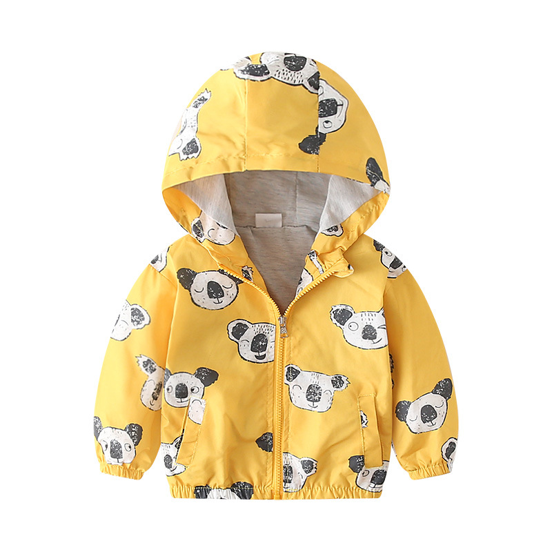27kids 2-7 Years  Autumn Kid Jacket Children Hooded Coat Boys Outerwear Clothe Spring Windbreaker Toddler Cute Dinosaur 5