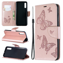 Butterfl Leather Flip Case For Samsung Galaxy A32 A12 A01 A11 A21 A21S A31 A41 A42 5G