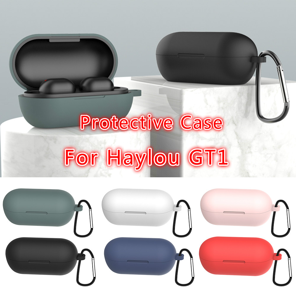 Fashion Color Wireless Bluetooth Case Cover For Haylou GT1 Soft Silicone Protective Headset Case For Haylou GT1 Plus New Arrival