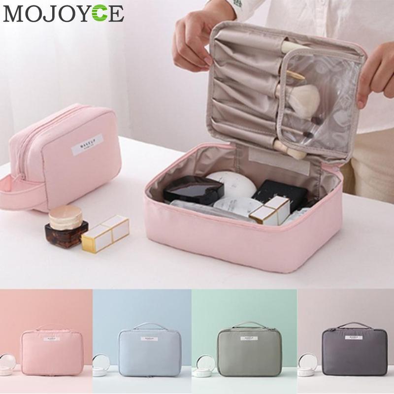 Candy Color Cosmetic Storage Bags Women Travel Handbag Zipper Makeup Case Wash Clutch Casual Pouch