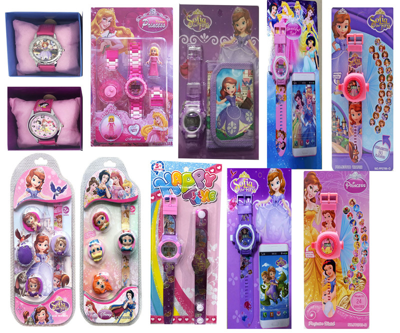 Disney Sofia Princess  Children Watches  Colorful Light Source Boys Watch Girls Kids Party Gift Electronic Clock Wrist