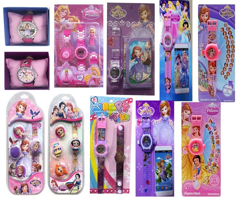 Disney Sofia Princess  Children Watches  Colorful Light Source Boys Watch Girls Kids Party Gift Electronic Clock Wrist