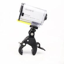 Cámara de acción deportiva Tubular para motos de nieve, Clip multiángulo para Sony RX0 FDR X3000 X1000 AS300 100V 50V