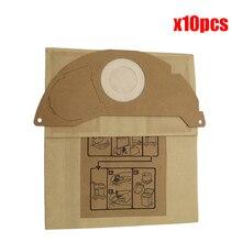10 adet elektrikli süpürge torbaları kağıt toz torbaları için yedek Karcher A2000 2003 2004 2014 2024 2054 2064 2074 S2500 WD2200 2210