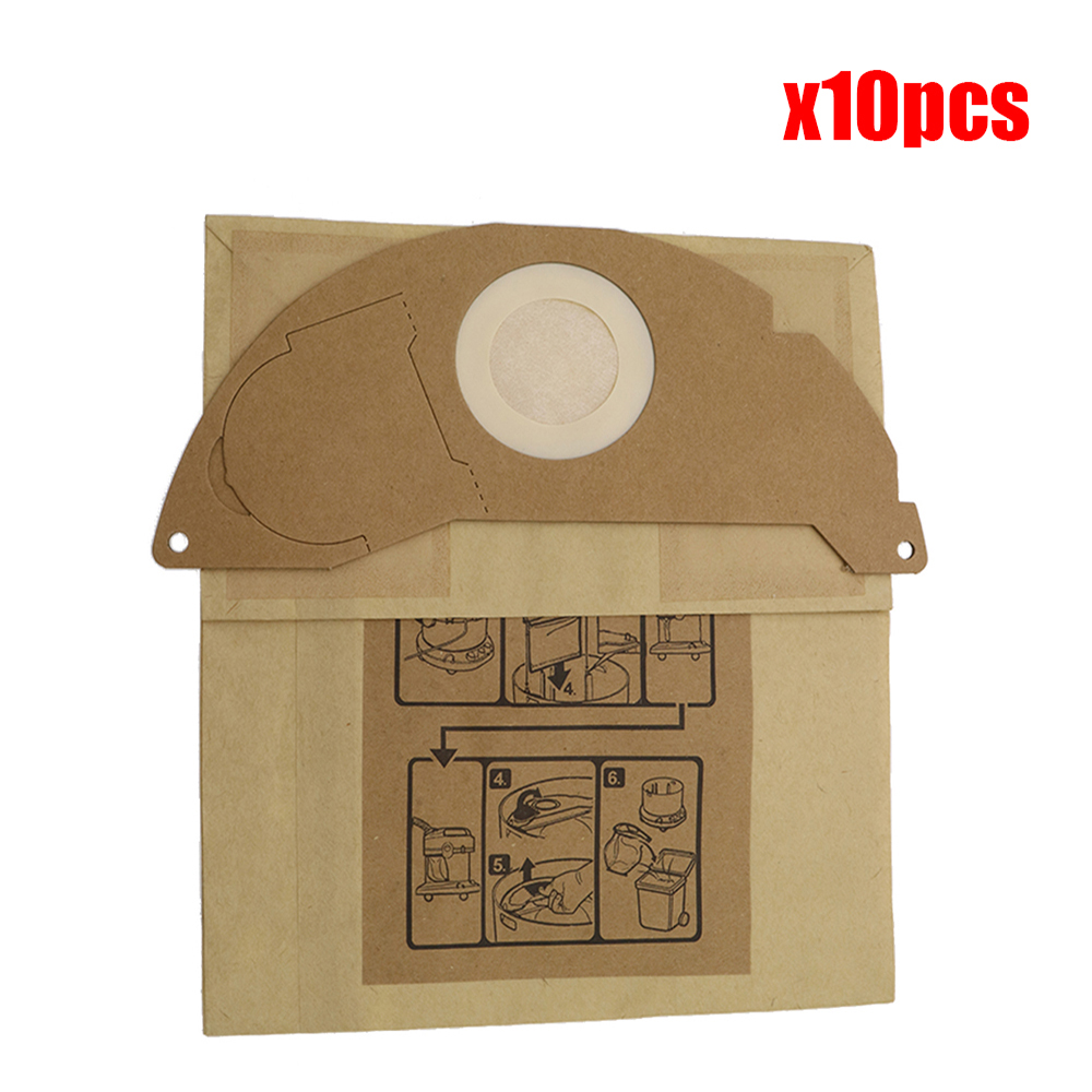 10pcs Vacuum Cleaner Bags Paper Dust Bags Replacement For Karcher A2000 2003 2004 2014 2024 2054 2064 2074 S2500 WD2200 2210